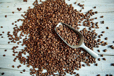 Fresh Roasted Coffe Beans Art Print