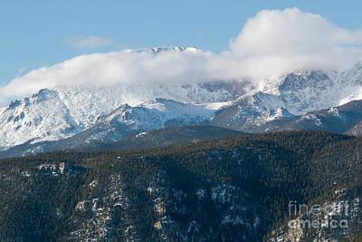 Photograph - Fresh Snow On Pikes Peak Colorado by Steve Krull