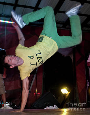 Fresh Trix Breakdancing At Bonnaroo Music Festival Art Print by David Oppenheimer