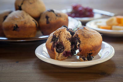 Cheddar Cheese Photograph - Fresh Whole Grain Blueberry Muffin by Erin Cadigan