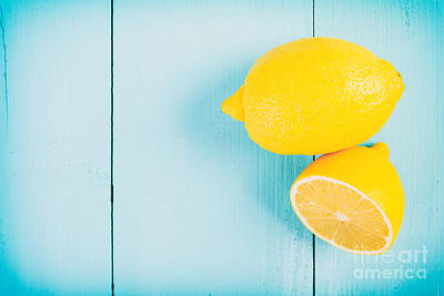 Steampunk - Fresh Yellow Lemons On Wooden Table by Radu Bercan