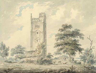 Drawing - Freston Tower, Suffolk by Edward Dayes