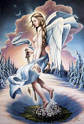 Norse Goddess Painting - Freya by Jonathan Weber