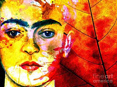 Kahlo Mixed Media - Frida Kahlo by Daniel Janda
