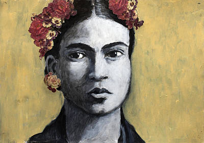 Kahlo Mixed Media - Frida Kahlo by Jill Van Iperen