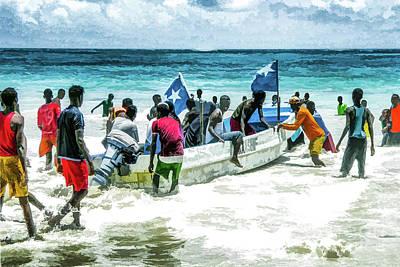 #1 Friday At Lido Beach Art Print by Lemmi Pfeiffer