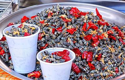 Photograph - Fried Sea Snails With Chili by Yali Shi