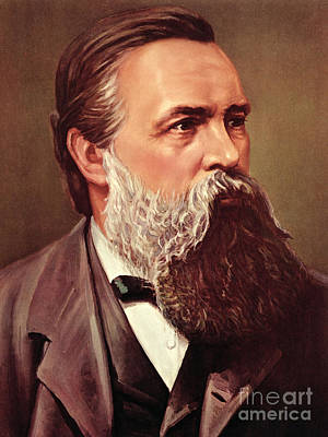 Theorist Painting - Friedrich Engels by German School