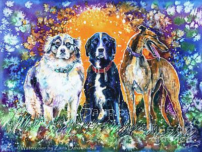 Painting - Friends by Zaira Dzhaubaeva