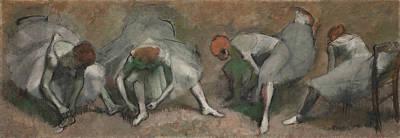 Prima Ballerina Painting - Frieze Of Dancers by Edgar Degas