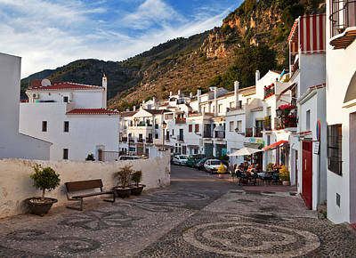 Cobbled Street Photograph - Frigiliana Street Scene, Costa Del Sol by Panoramic Images