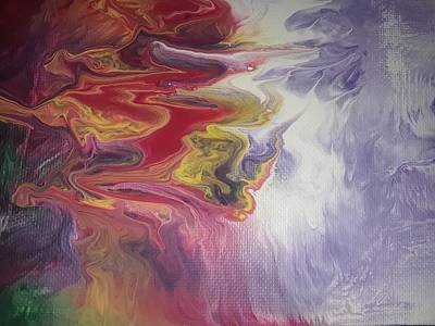 Abstract Painting - From Darkness To Light by Mah Leah Cochran