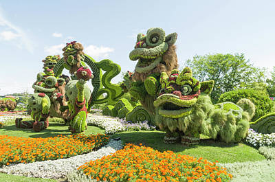 Gatineau Park Photograph - From Shanghai Joyful Celebration Of The Nine Lions 9 by Bob Corson