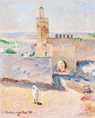 Tangier Painting - From Tangier by Hugo Backmansson