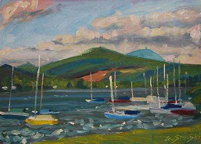 Painting - From The Blue Anchor by Len Stomski