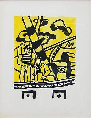 Mourlot Painting - From The Series La Ville by Fernand Leger