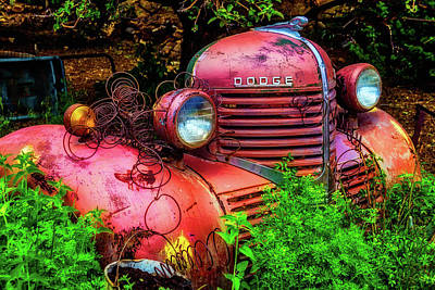 Front End Of Old Dodge Art Print by Garry Gay