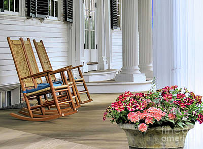 Photograph - Front Porch Mayflower Society House  by Janice Drew