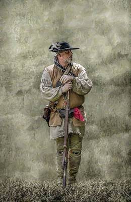 Seven Years War Digital Art - Frontiersman Portrait by Randy Steele