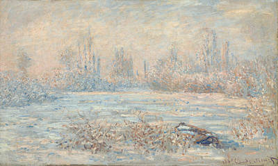 Winter Landscape Painting - Frost by Claude Monet