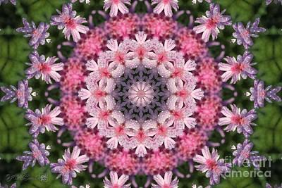 Digital Art - Frosted Double Pink Mandala by J McCombie