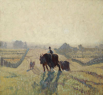 Painting - Frosty Sunrise by Elioth Gruner