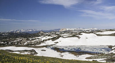 Photograph - Frozen Lake  Beartooth Highway by Gary Beeler