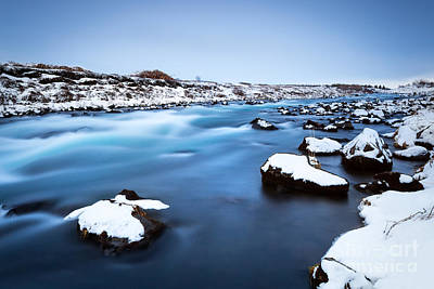 Photograph - Frozen River Landscape by Anna Om
