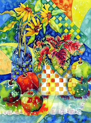 Fruit And Coleus Art Print
