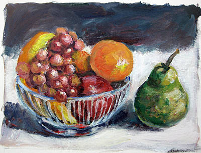 Painting - Fruit Basket by Ingrid Dohm