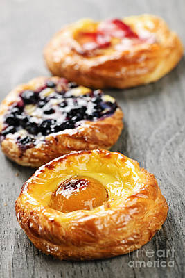Apricot Photograph - Fruit Danishes by Elena Elisseeva
