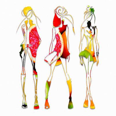 Mixed Media - Fruit Salad Fashion by Marvin Blaine