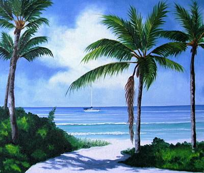 Painting - Ft. Myers Beach by Maria Mills