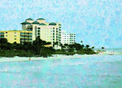 Ft Myers Beachfront Art Print by Florene Welebny