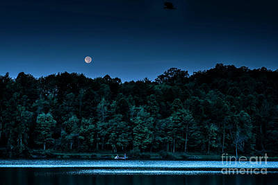 Photograph - Full Moon Fishing by Thomas R Fletcher