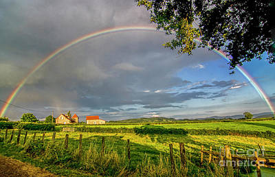 Photograph - Full Rainbow With Setting Sun by Patricia Hofmeester