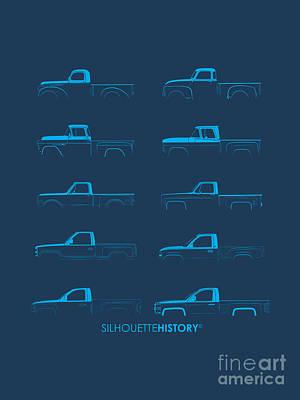 Fullsize Pickup Silhouettehistory Art Print by Balazs Iker