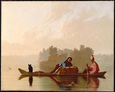 Painting - Fur Traders Descending The Missouri by George Caleb Bingham