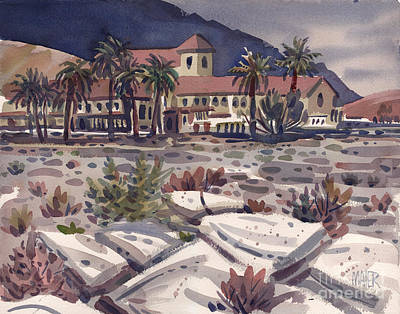Death Valley Painting - Furnace Creek Inn by Donald Maier