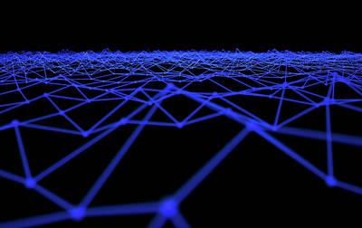 Luminous Digital Art - Futuristic Plexis Background by Allan Swart