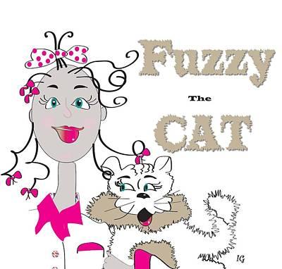 Fuzzy Digital Art - Fuzzy by Iris Gelbart