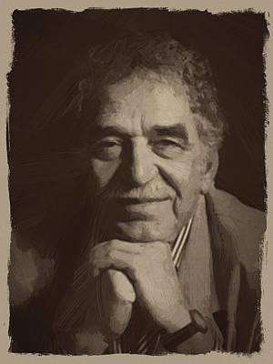Quote Digital Art - Gabriel Garcia Marquez by Afterdarkness
