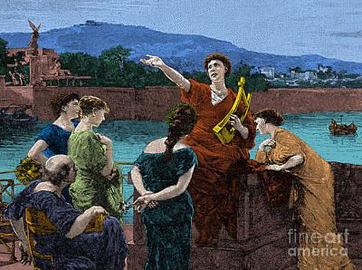 Gaius Valerius Catullus, Ancient Roman Art Print by Science Source