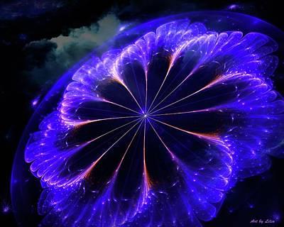 Flower Digital Art - Galaxy Flower by Lilia D