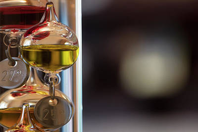 Photograph - Galileo Thermometer by Jeremy Lavender Photography