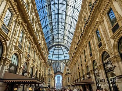Galleria Vittorio Emanuele II Shopping Art Mall In Milan Art Print by Frank Bach