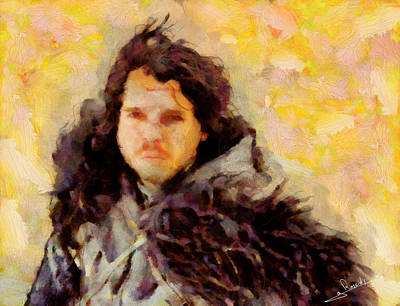 Portrait Painting - Game Of Thrones 5 by George Rossidis
