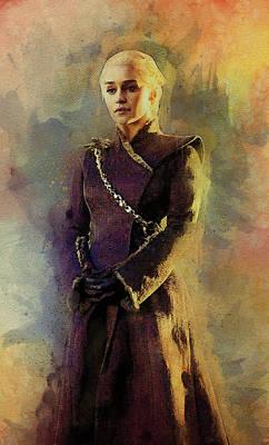 Game Of Thrones Digital Art - Game Of Thrones. Daenerys. by Anna J Davis