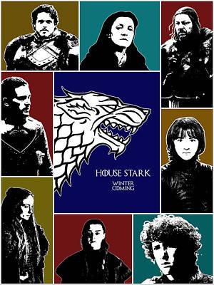 Daenerys Targaryen Digital Art - Game Of Thrones by Anna J Davis
