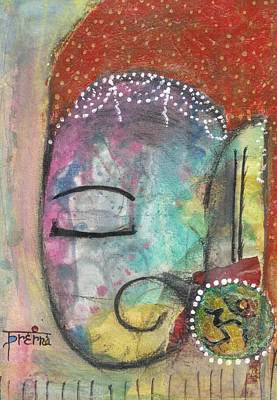 Art Print featuring the mixed media Ganesha by Prerna Poojara